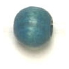 Wooden Bead Round 5mm Denim Blue Polished